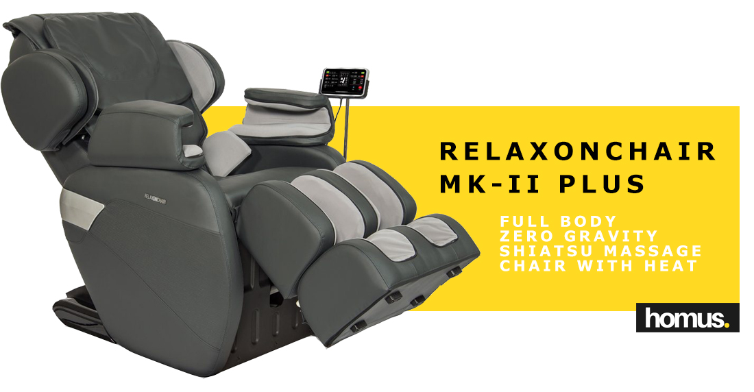 RELAXONCHAIR [MK-II PLUS] Full Body Zero Gravity Shiatsu Massage Chair